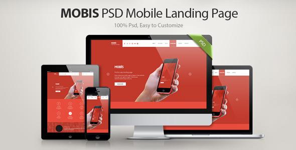 Mobis - App Landing Page  TForest PSDTemplates