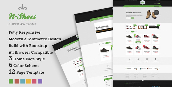 N-Shoes – Premium Responsive HTML5 Store Template  TForest