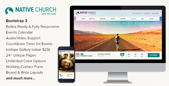 NativeChurch - Responsive HTML5 Template  TForest