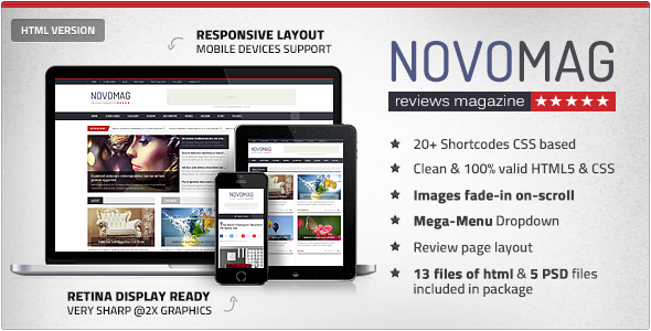 NovoMag - Clean Magazine & Review HTML Template  TForest
