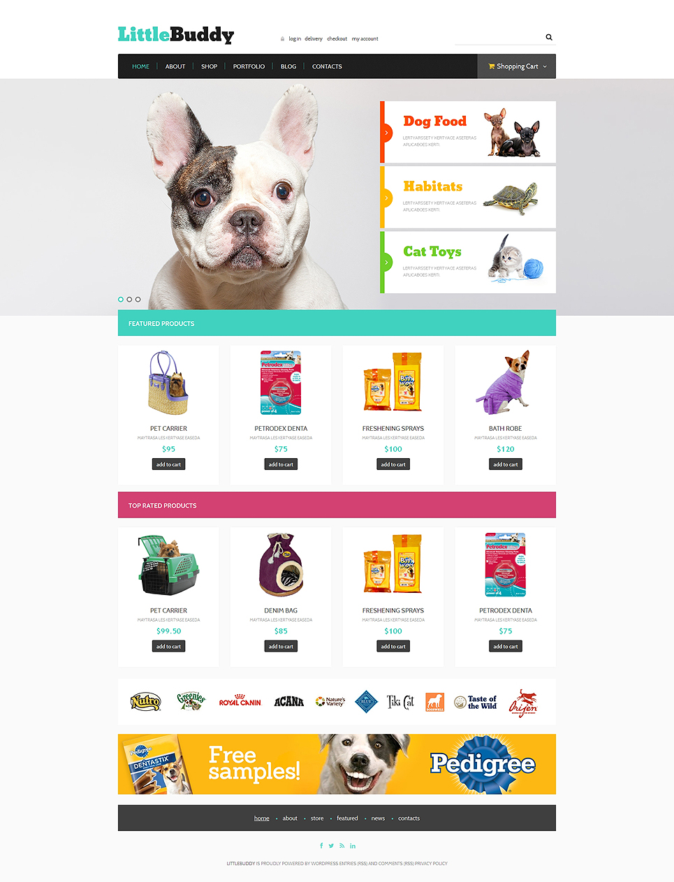 Pet Shop Responsive Jigoshop Theme TMT