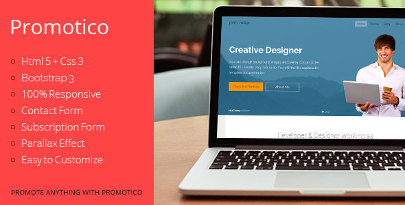 Promotico - Bootstrap 3 Site Template  TForest