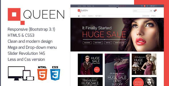 Queen - Responsive E-Commerce Template  TForest