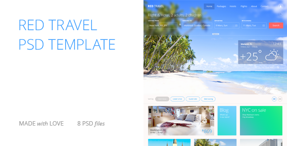 Red Travel  TForest PSDTemplates