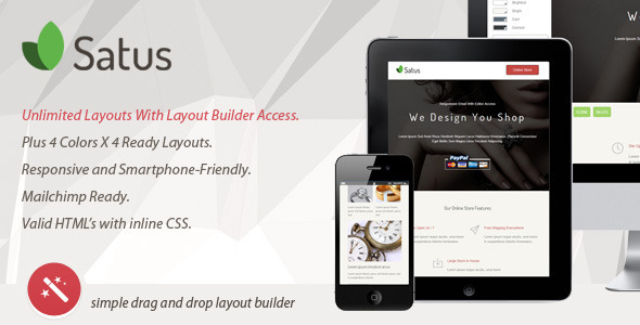 SATUS - Responsive Email With Layout Builder  TForest