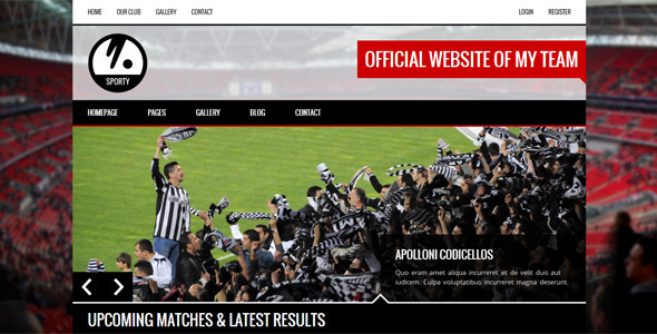 SPORTY - Responsive HTML5 Template for Sport Clubs  TForest