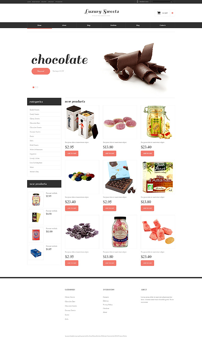 Sweet Shop Responsive Jigoshop Theme TMT