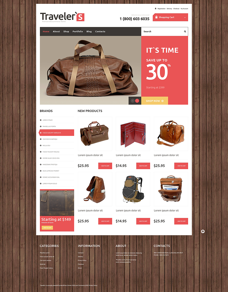 Travel Store Responsive Jigoshop Theme TMT