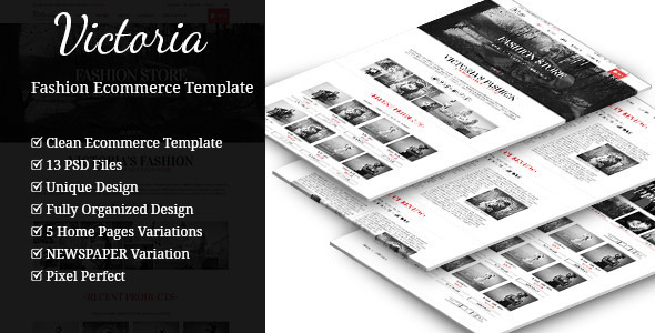 Victoria - A One and Multi Page Ecommerce Template  TForest