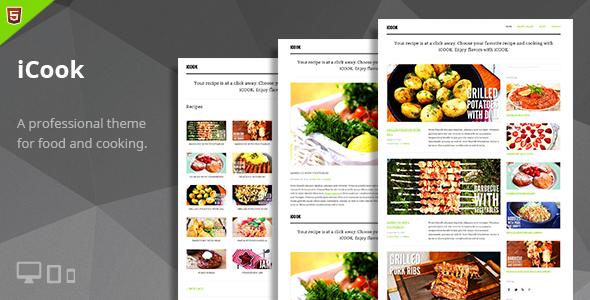 iCook – Food Blog HTML Theme  TForest