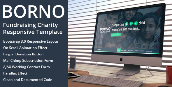 Borno Fundraising Charity Template  TForest