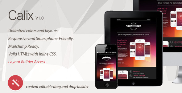 Calix - Responsive Email Template & Layout Builder  TForest