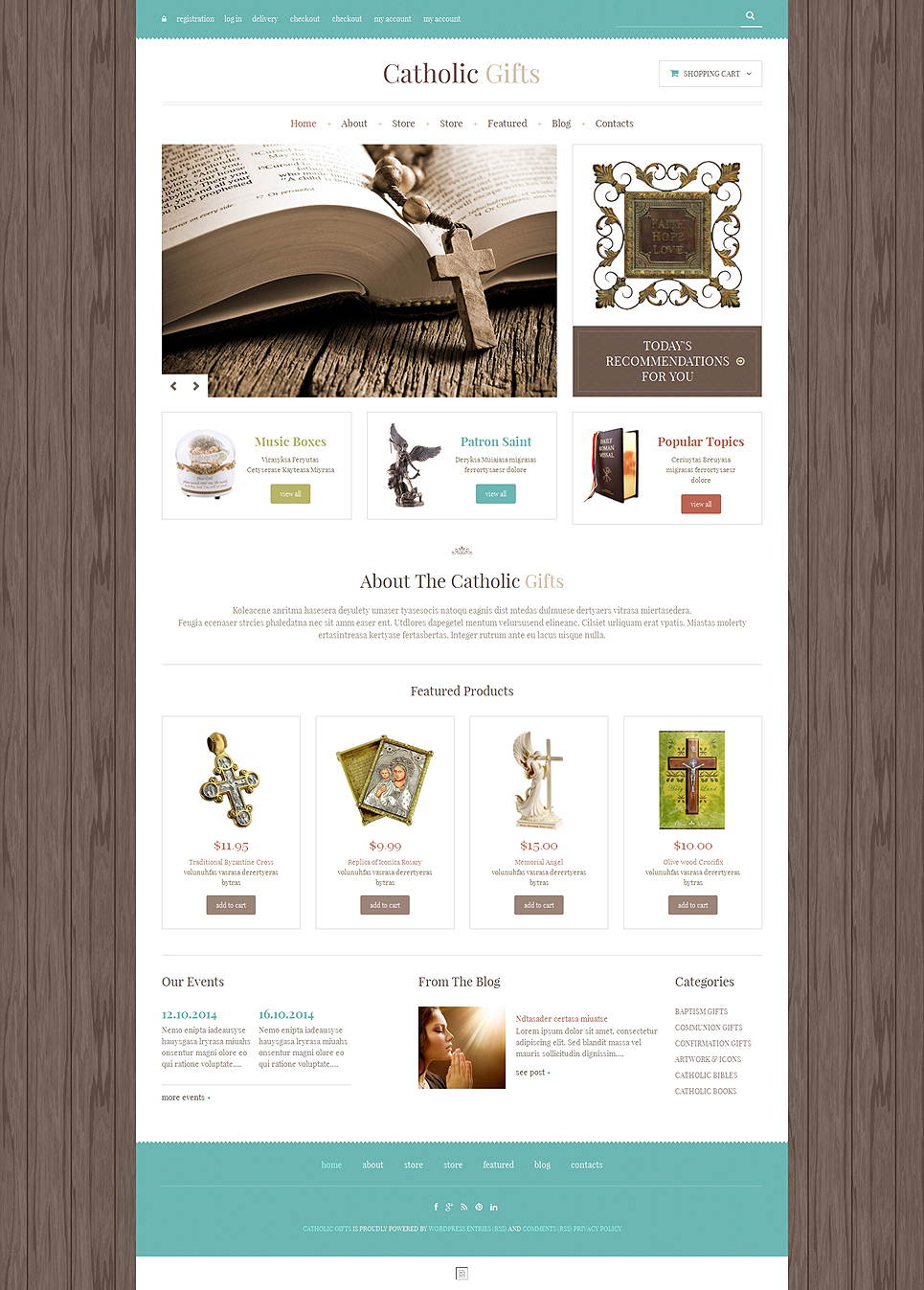 Catholic Church Responsive Jigoshop Theme TMT