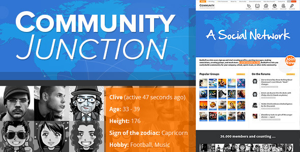 CommunityJunction - BuddyPress Theme  TForest