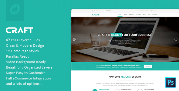 Craft | Multi-Purpose PSD Template  TForest