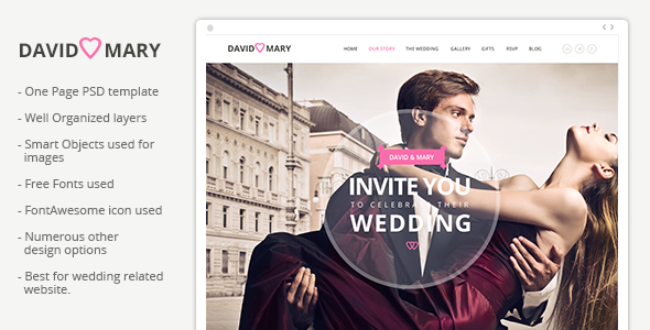 David & Mary - Event & Wedding Template  TForest