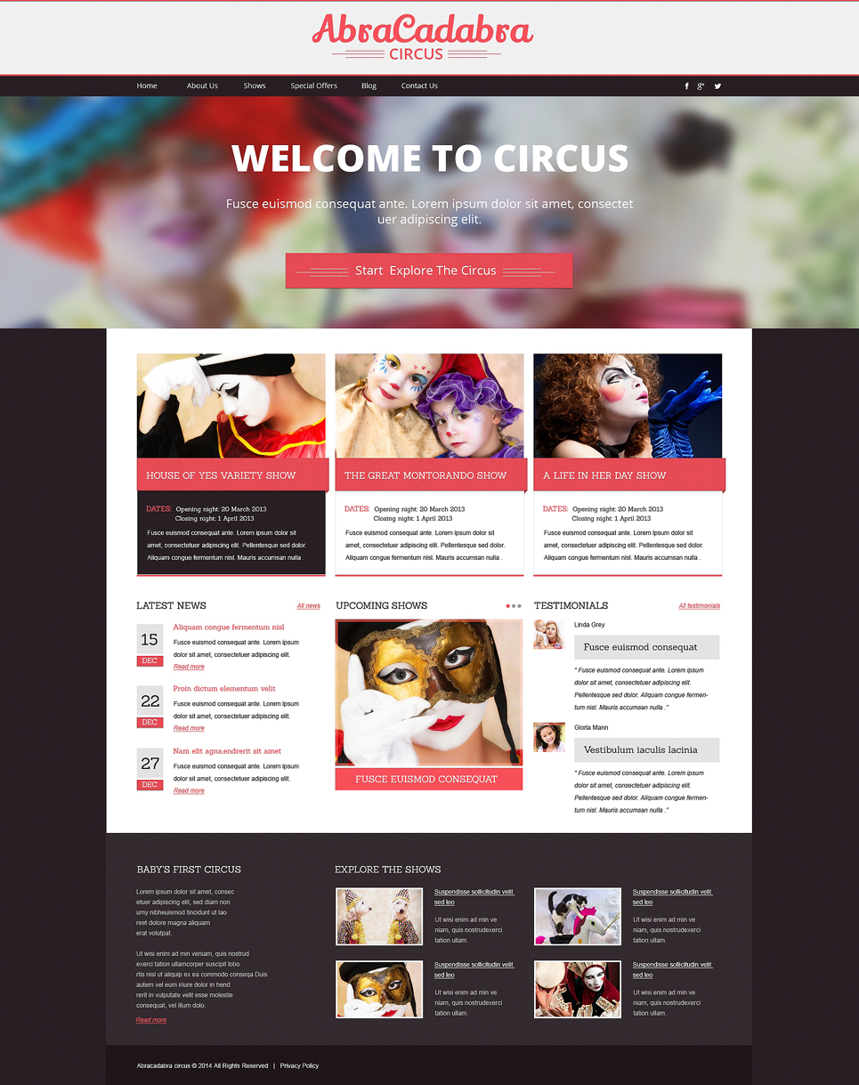 Entertainment Responsive Drupal Template TMT