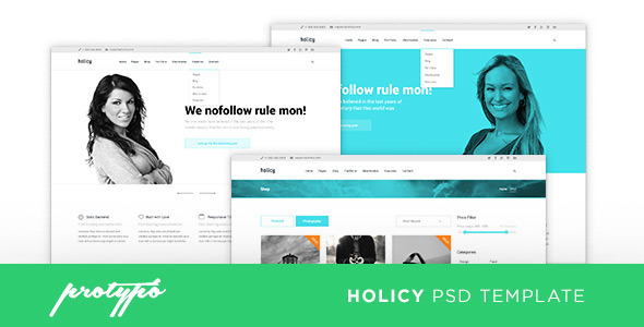 Holicy Business PSD Template  TForest PSDTemplates