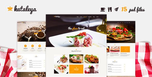 Kataleya - Restaurant One Page PSD Template  TForest