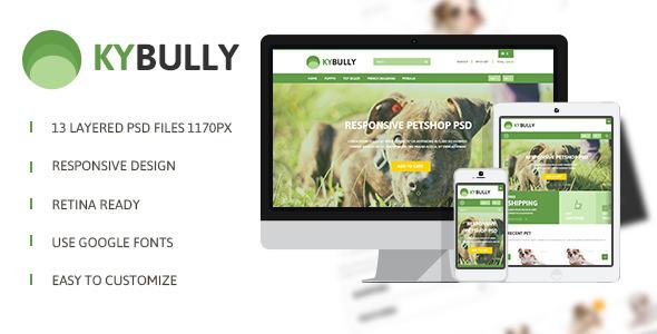 KyBully -  Responsive eCommerce PSD  TForest