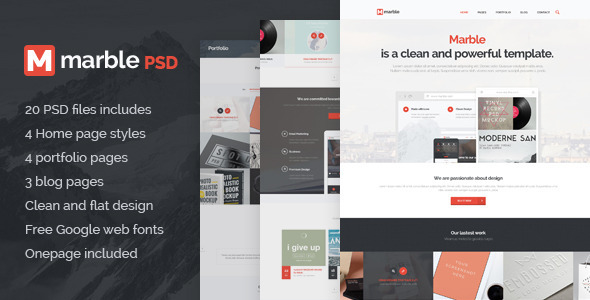 Marble - Multipurpose PSD Template  TForest