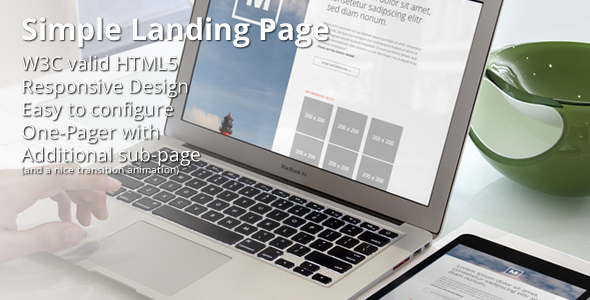 Minimalist - Responsive Double-Page Portfolio  TForest