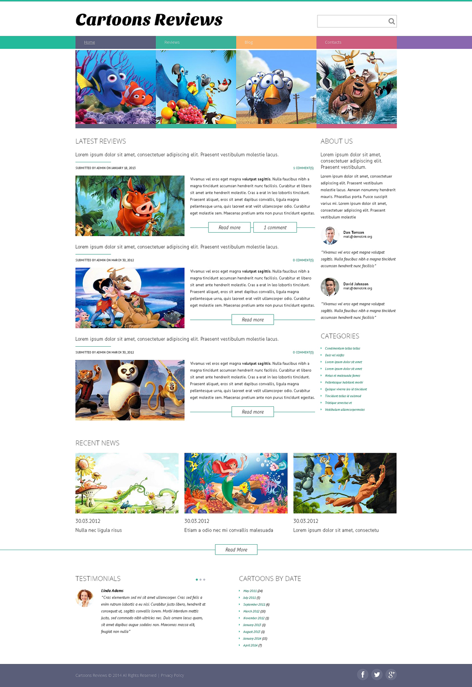 Movie Drupal Template TMT