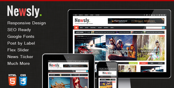 Newsly - Responsive Multipurpose Blogger Template  TForest
