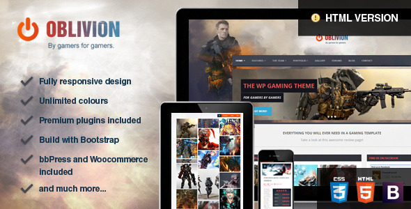 Oblivion - The Multi-Purpose Gaming Template  TForest