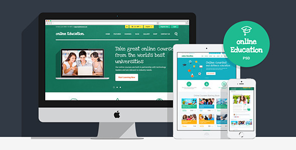 Online Education | PSD Template  TForest