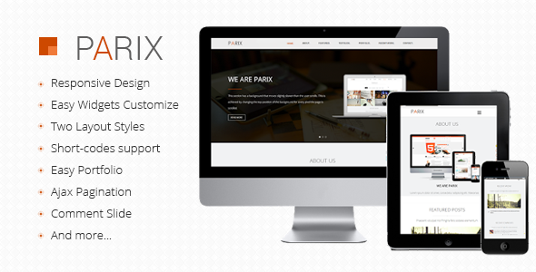 Parix - One Page Blogger Template  TForest