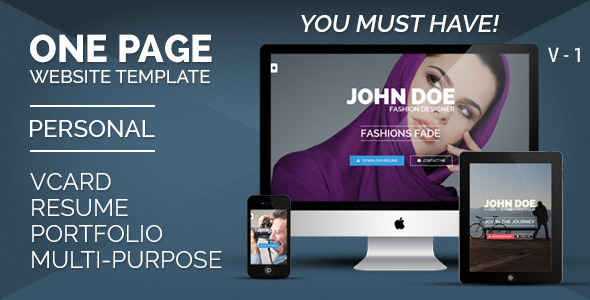 Personal One - OnePage / VCard / Resume  TForest