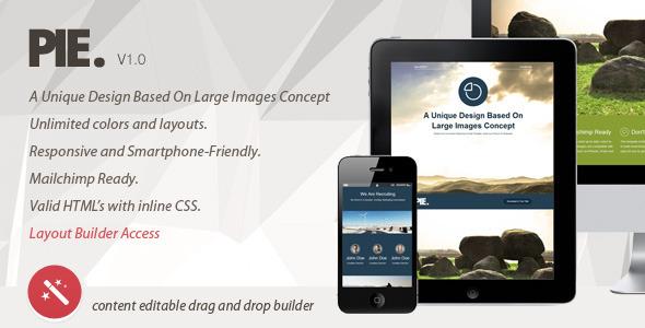 Pie. Unique Concept Email Template, Layout Builder  TForest