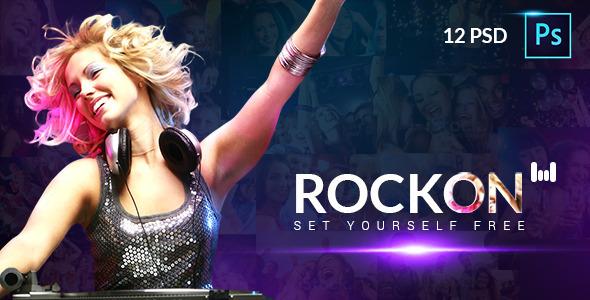 RockOn PSD Template  TForest PSDTemplates
