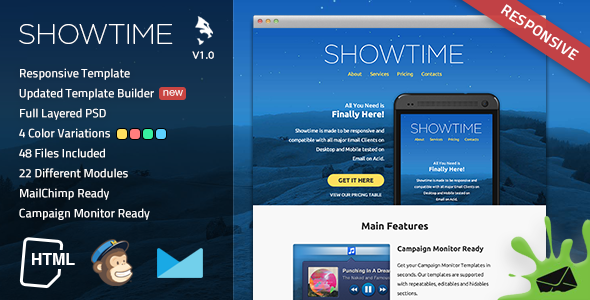 Showtime Responsive Email Template  TForest