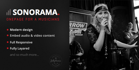 Sonorama - Onepage Music Template  TForest