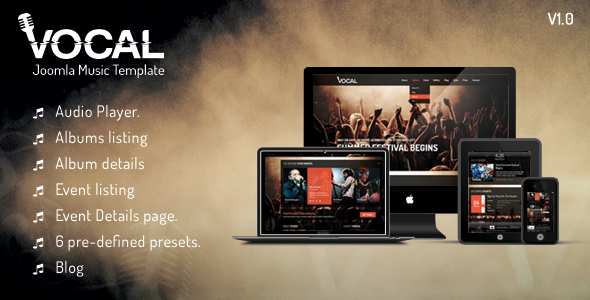 Vocal - Responsive Events & Music Template  TForest