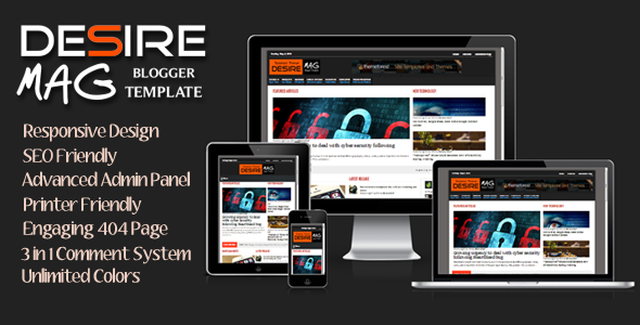 Desire Mag - Responsive Magazine Blogger Template  TFx