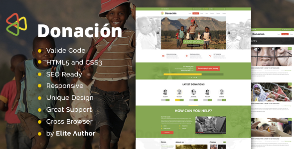 Donation Responsive HTML Template  TFx