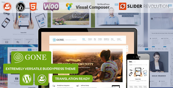 Gone - BuddyPress & WordPress Theme  TForest