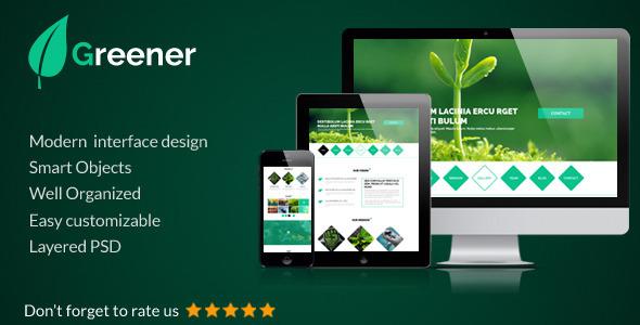 Greener - OnePage Portfolio Template  TFx
