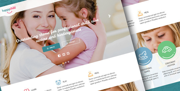 HappyChild | Kindergarten PSD Template  TFx