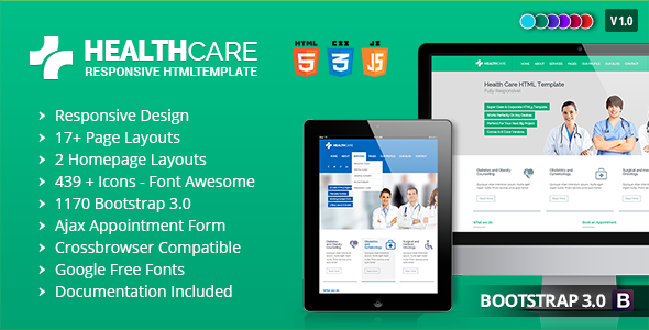 Health Care - Responsive Medical Health Template  TFx