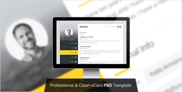 Premium Layers PSD vCard  TFx PSDTemplates