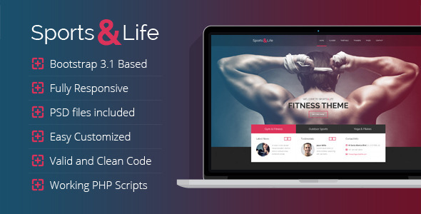 Sports&Life - Gym & Fitness HTML Template  TFx