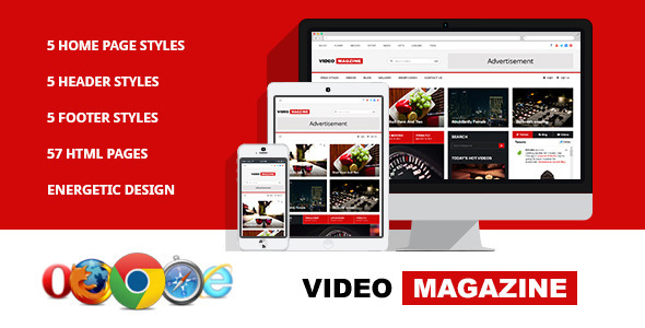 Video Magazine - HTML Magazine Template  TFx
