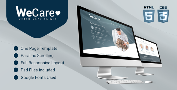 Wecare Veterinary Clinic - Parallax Landing Page  TFx