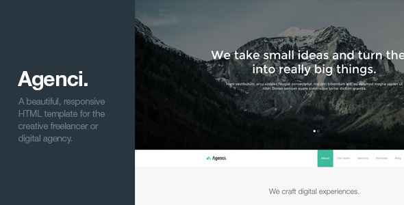 Agenci - One Page Responsive HTML Template  TFx