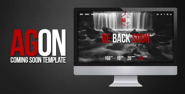 Agon - Responsive Coming Soon Template  TFx
