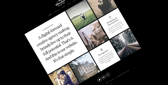 Bleecker – Responsive Retina-Ready HTML5 Portfolio  TFx